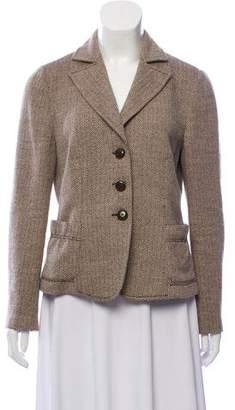 Armani Collezioni Wool Herringbone Blazer