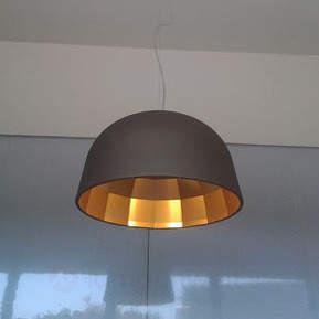 Designer-LED-Hängeleuchte Empty in Braun
