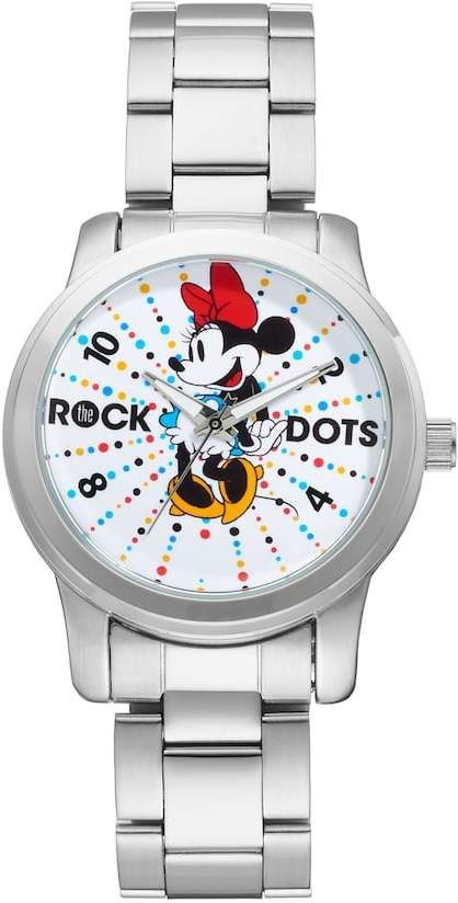 "Disney Disney's Minnie Mouse ""Rock the Dots"" Women's Stainless Steel Watch"