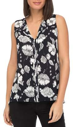 Bobeau B Collection by Lily Floral-Print Sleeveless Top