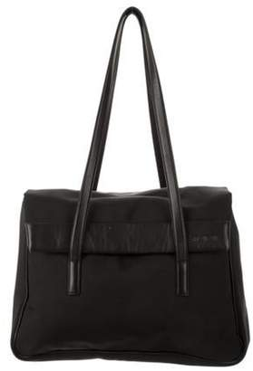 Tumi Large Leather-Trimmed Carry-All Tote Black Large Leather-Trimmed Carry-All Tote
