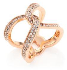 MICHAEL Michael KorsMichael Kors Twisted Pave Ring/Rose Goldtone