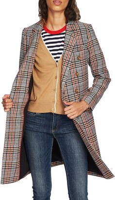 Court & Rowe Autumn Plaid Topper Coat