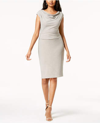 Jessica Howard Ruched Cowl-Neck Dress