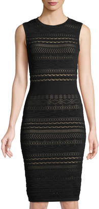 John & Jenn Georgia Lace-Overlay Bodycon Dress