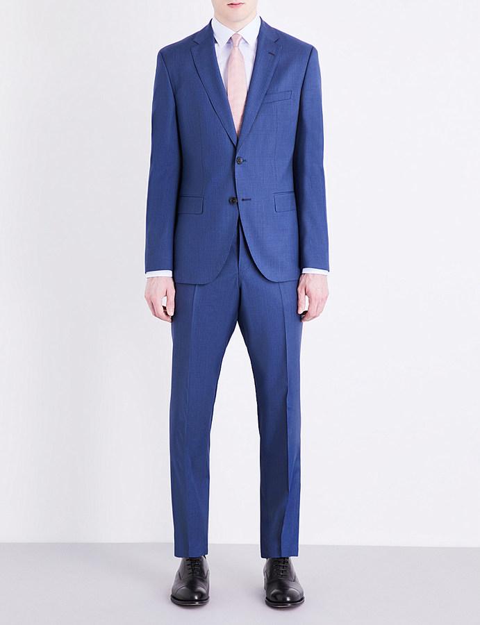 Hugo BossHugo Boss Pinstriped regular-fit wool suit