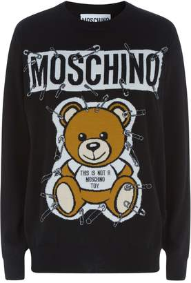 Moschino Safety Pin Teddy Sweater