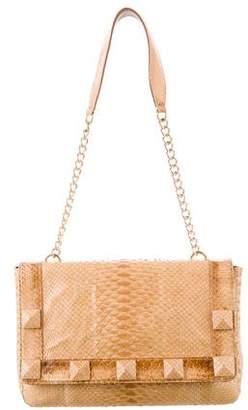 LAI Studded Python Flap Bag