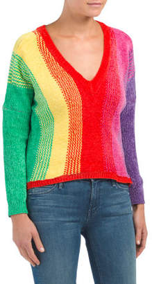 Juniors Australian Design Rainbow Knit Sweater