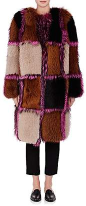 Osman Women's Amanon Plaid Fur Coat