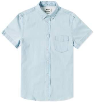 Acne Studios Short Sleeve Isherwood Denim Shirt