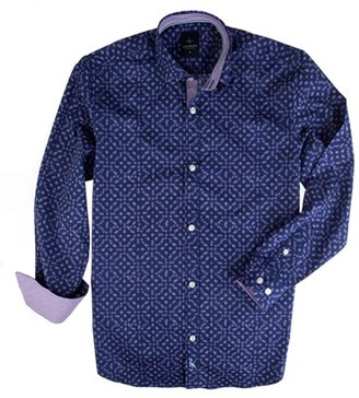 Boy's Tailorbyrd Roosevelt Print Dress Shirt $49.50 thestylecure.com
