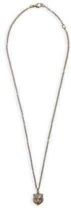 Gucci Feline Head Pendant Necklace
