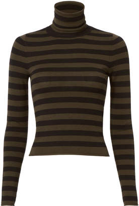 A.L.C. Lincoln Stripe Turtleneck Crop Top