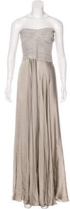 Ralph Lauren Black Label Silk Strapless Maxi Dress