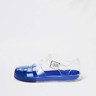 River Island Boys Blue two tone jelly sandals