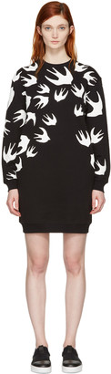 McQ Alexander McQueen Black Swallows Pullover Dress $330 thestylecure.com
