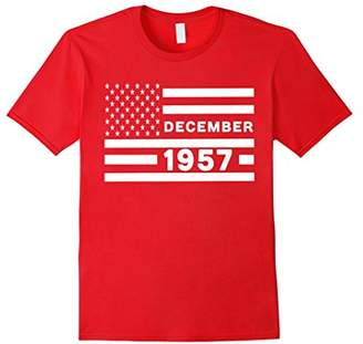 American Flag December 1957 60 Years Old 60th Birthday Shirt