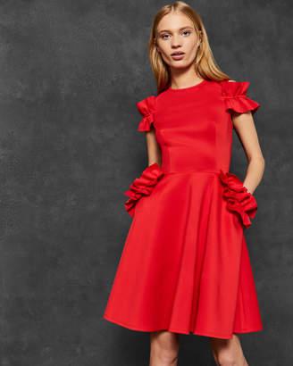 Ted Baker DENEESE Ruffle detail dress