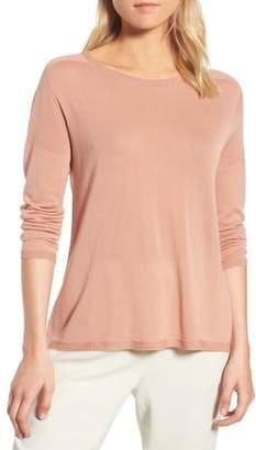 Eileen Fisher Tencel(R) Lyocell Knit Sweater