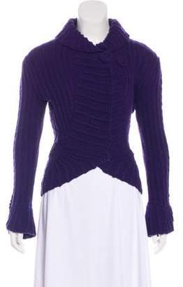 Oscar de la Renta Knit Long Sleeve Cardigan