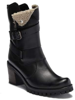 Manas Design FUR Leather Wraparound Strap Boot