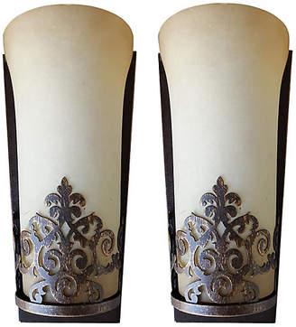 One Kings Lane Vintage Art Deco-Style Sconces - Set of 2 - Thomas Brillet Inc.