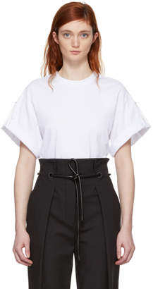 3.1 Phillip Lim White Oversized Tie T-Shirt