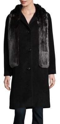 Jones New York Faux Fur Stole Jacket