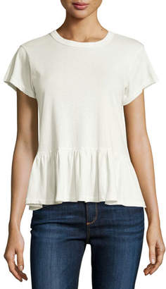 The Great The Ruffle Washed Tee