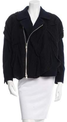 Julien David Lace Asymmetrical Jacket