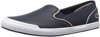 Lacoste Women's Lancelle Slip on 316 1 Spw Nvy Fashion Sneaker $94.95 thestylecure.com