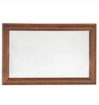 Rejuvenation Classic Oak-Framed Mirror w/ Beveled Glass