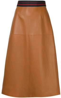 Inès & Marèchal sports rib A-line skirt