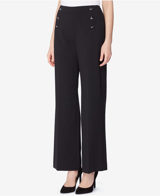 Tahari ASL Wide-Leg Sailor Pants $89 thestylecure.com