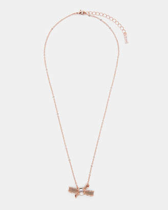 Ted Baker DAMEKA Ribbon bow pendant