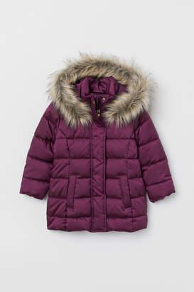 H&M Padded Hooded Jacket - Purple