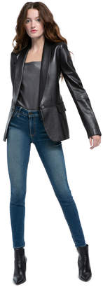 Alice + Olivia Macey Leather Blazer