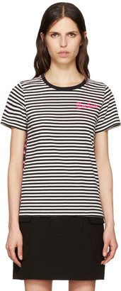 Marc Jacobs Black Printed Patchwork T-Shirt $150 thestylecure.com