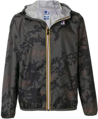K-Way camouflage contrast zip jacket