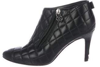 Chanel CC Quilted Leather Booties