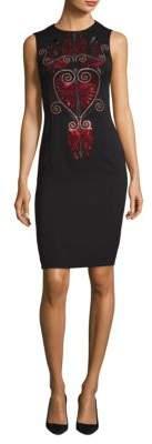 Versace Embellished Woven Dress