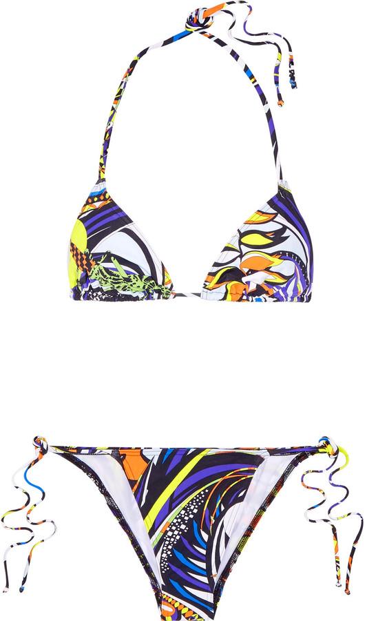 Emilio PucciEmilio Pucci Printed triangle bikini