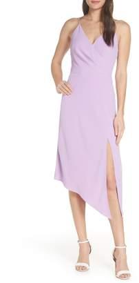 Finders Keepers Mae Asymmetrical Hem Midi Dress