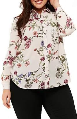 Evans Blush Floral Print Shirt