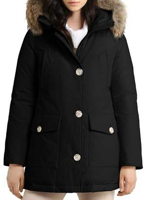 Woolrich Arctic High Collar Fur Trim Down Parka