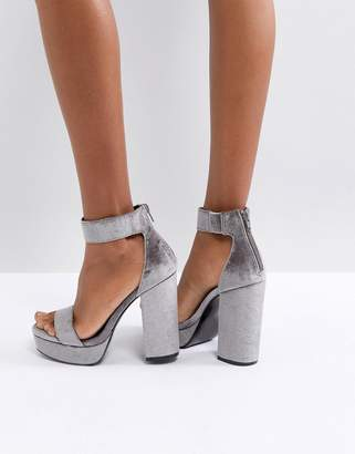 Asos DESIGN HAIRSPRAY Platform Heeled Sandals
