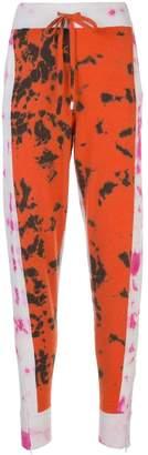 Zoe Jordan tie-dye track trousers