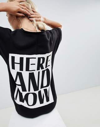 Asos DESIGN here and now v neck sweat dress