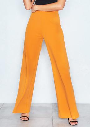 7b38f50a2053 Missy Empire Missyempire Kelsey Mustard High Waist Wide Leg Trousers
